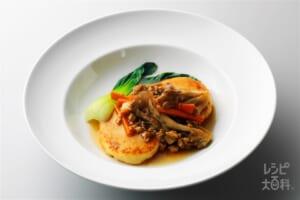 豆腐団子の野菜あんかけ