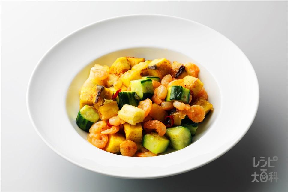 えびとさつまいもの甘辛炒め(むきえび+「味の素」70g瓶を使ったレシピ)
