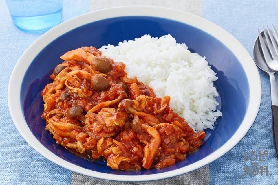 ハヤシライス(豚もも薄切り肉+玉ねぎ(大)を使ったレシピ)