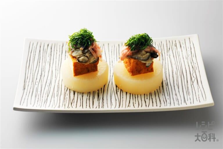 牡蠣と大根の蒸しもの
