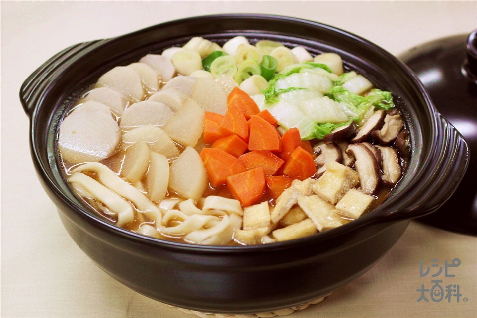 おきりこみ風鍋(大根+ゆできしめんを使ったレシピ)