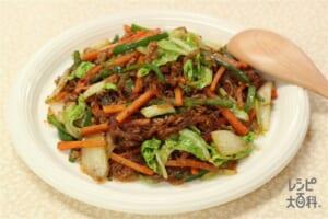 白菜と春雨の回鍋肉風