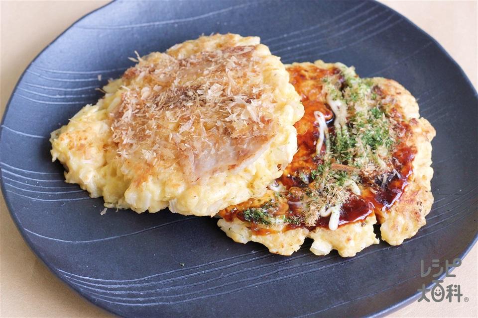 白菜と豚肉のお好み焼き(お好み焼き粉+白菜を使ったレシピ)
