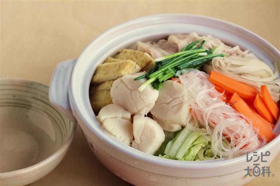 あっさり塩鍋(白菜+にんじんを使ったレシピ)