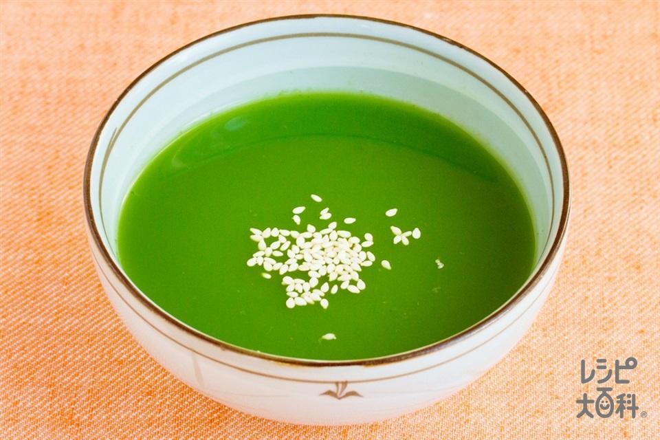 小松菜とほうれん草のすりながし(小松菜+ほうれん草を使ったレシピ)