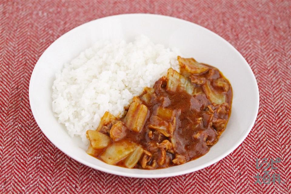 白菜カレー(白菜の芯+ご飯を使ったレシピ)