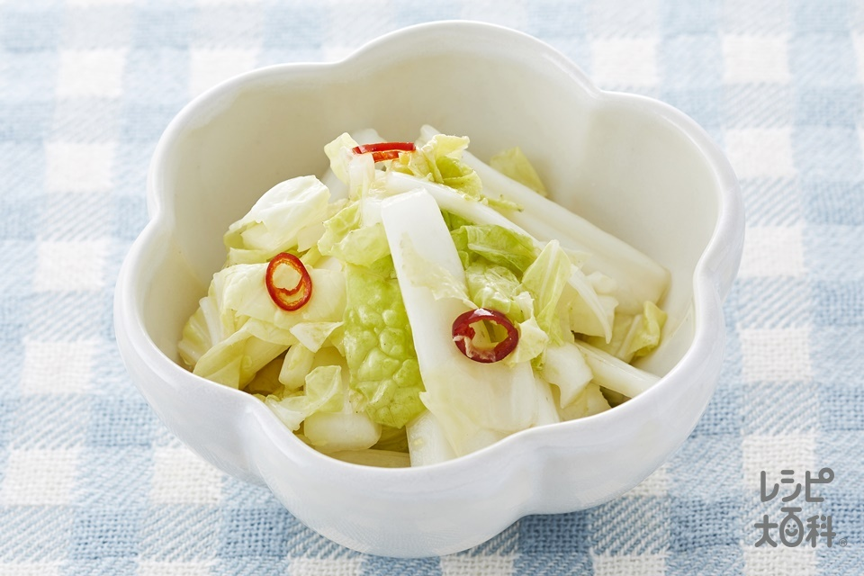 辣白菜(ラーパーツァイ)~白菜の香味甘酢漬け~(砂糖を使ったレシピ)