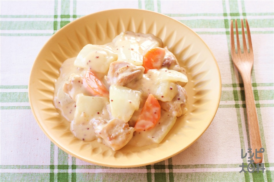 鶏と白菜のマスタードクリーム煮(鶏もも肉+「瀬戸のほんじお」を使ったレシピ)