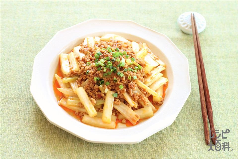 麻婆白菜(白菜の芯+豚ひき肉を使ったレシピ)