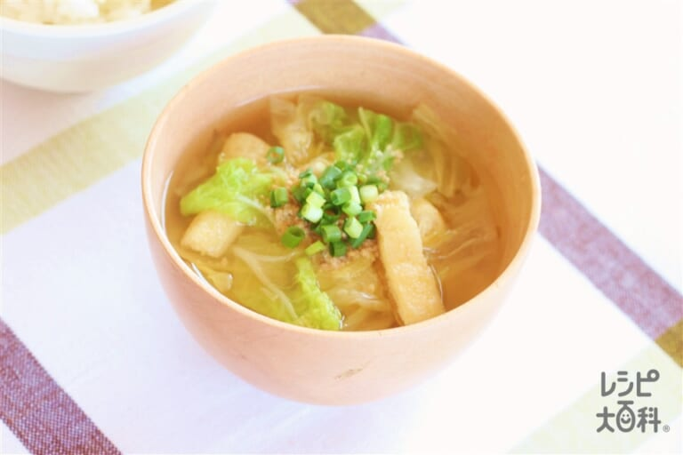 たっぷり白菜のごまみそスープ