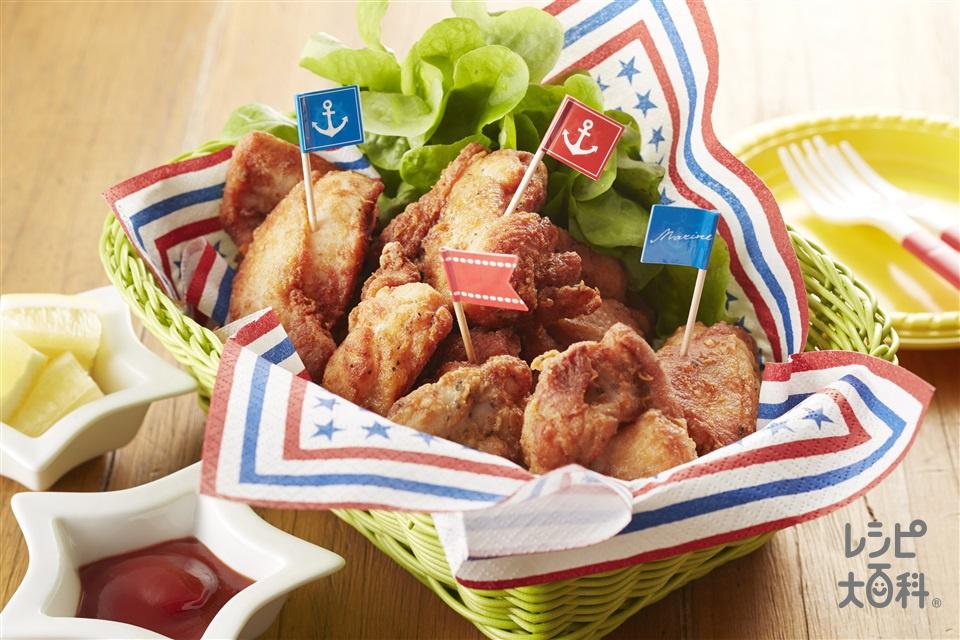 骨なしガーリックチキン(鶏もも肉+A「丸鶏がらスープ」を使ったレシピ)