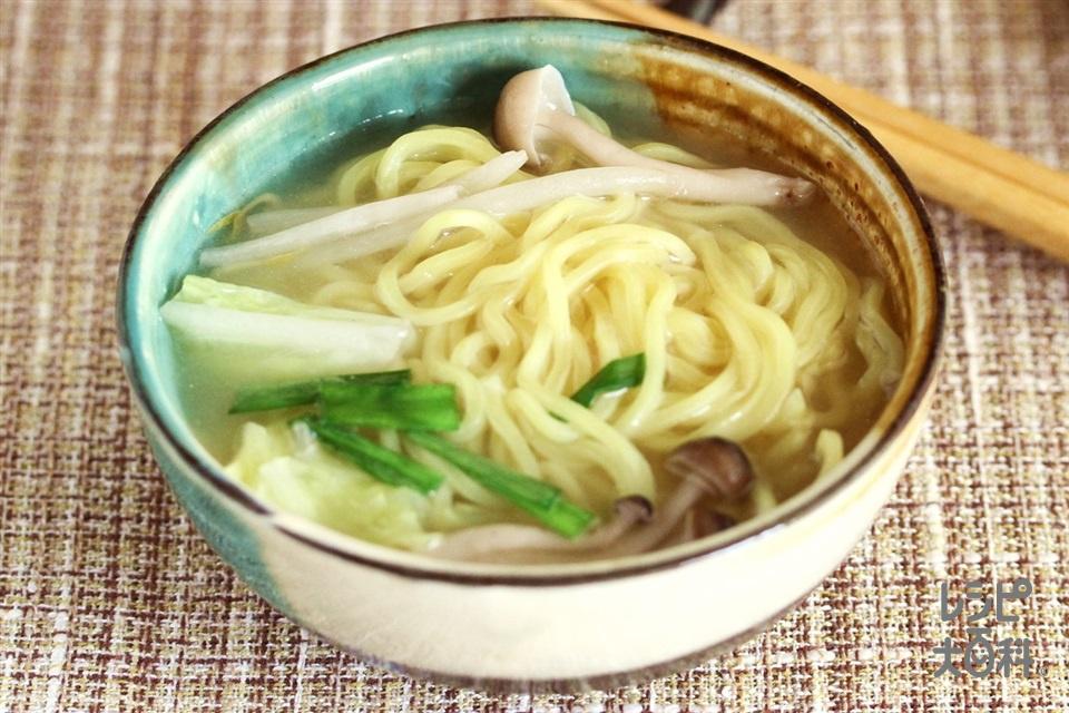 ワンタン鍋シメラーメン(中華めんを使ったレシピ)