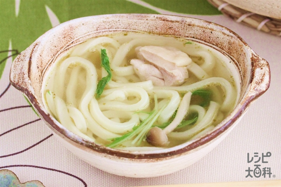 水菜のゆずこしょう鍋シメうどん(冷凍うどん+「Cook Do 香味ペースト」を使ったレシピ)