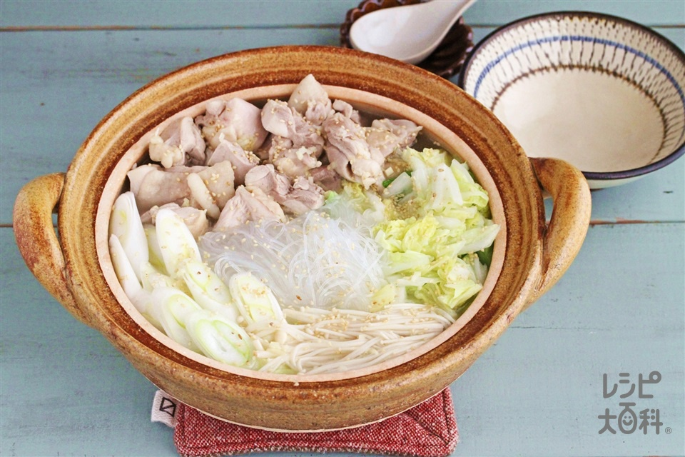 中華風しょうが鍋(鶏もも肉+白菜を使ったレシピ)