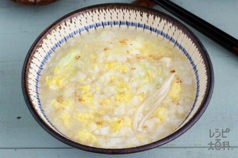 中華風しょうが鍋シメ雑炊
