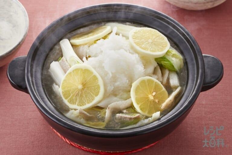 あっさりうま塩レモン鍋