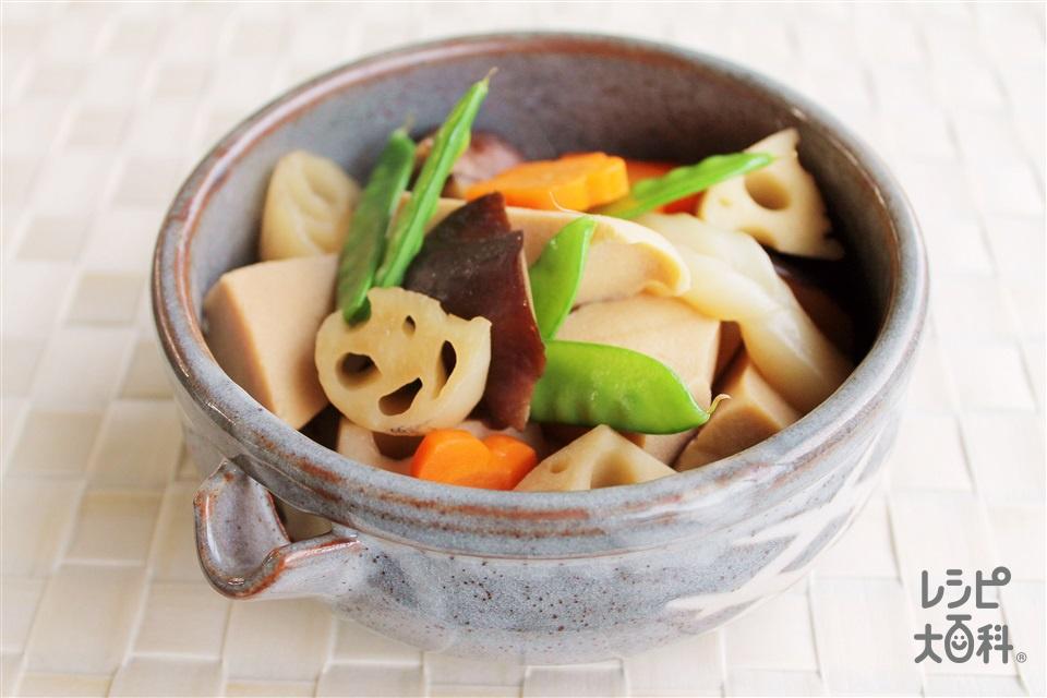 味付けが簡単に決まるお煮しめ(高野豆腐+ごぼうを使ったレシピ)