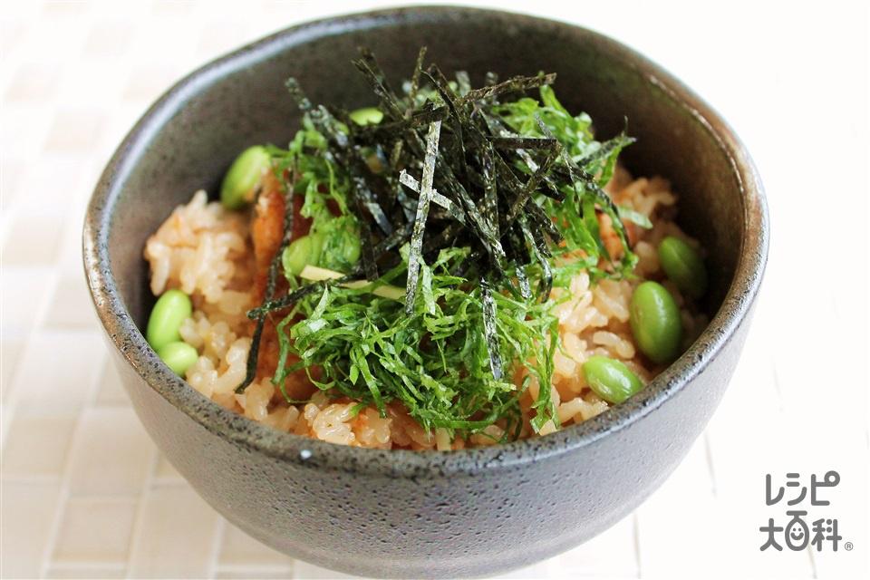 うなぎの炊き込みご飯(米+A水を使ったレシピ)