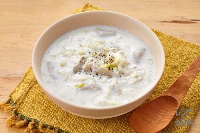 里芋とねぎの豆乳スープ