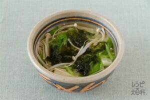 白菜とえのきの和風スープ