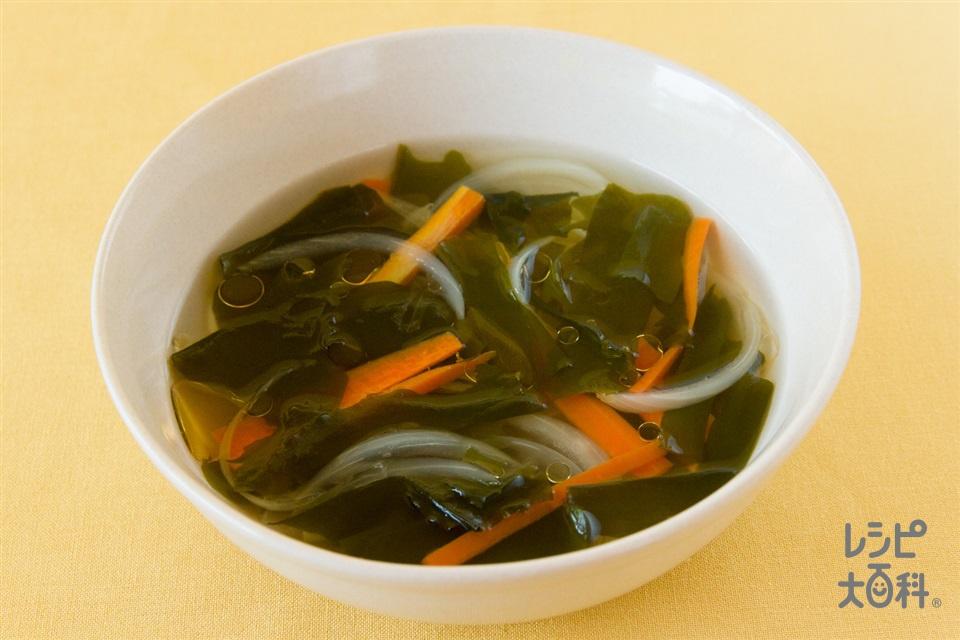 わかめとにんじんの酢ープ(にんじん+玉ねぎを使ったレシピ)