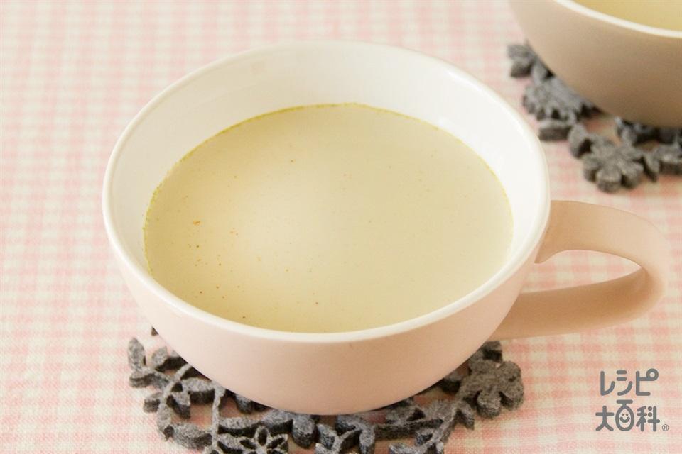 緑茶のチャイ(牛乳+砂糖を使ったレシピ)