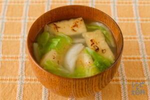 こんがり油揚げと白菜の味噌汁