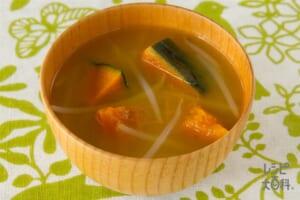 かぼちゃともやしの味噌汁