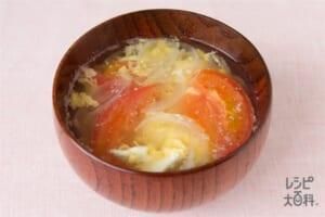 トマトのふんわり卵の味噌汁