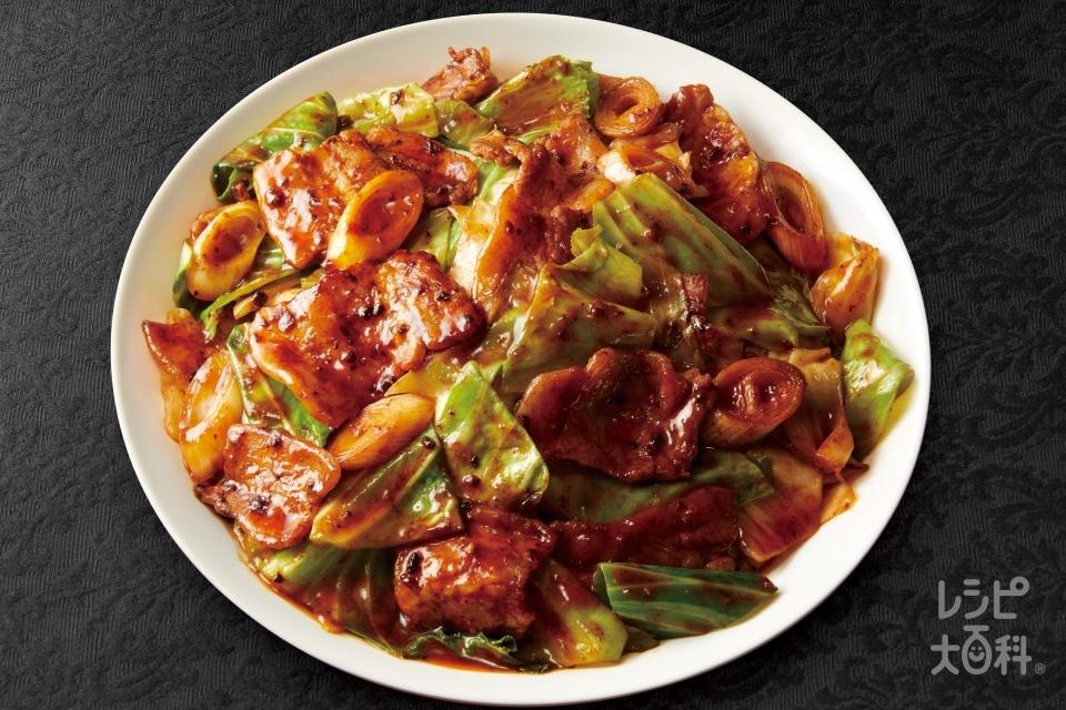 四川式回鍋肉(豚バラ薄切り肉+キャベツを使ったレシピ)