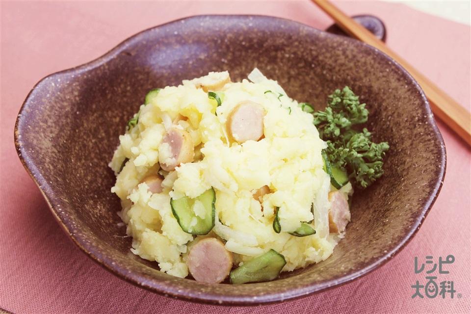 香味ポテトサラダ(じゃがいも+ウインナーソーセージを使ったレシピ)