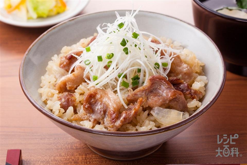 しょうが焼きのだし炊きご飯(米+「ほんだし」を使ったレシピ)