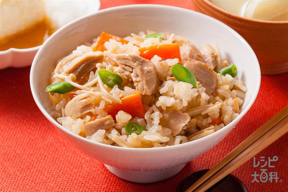 ツナのだし炊きご飯(米+ツナ油漬缶を使ったレシピ)
