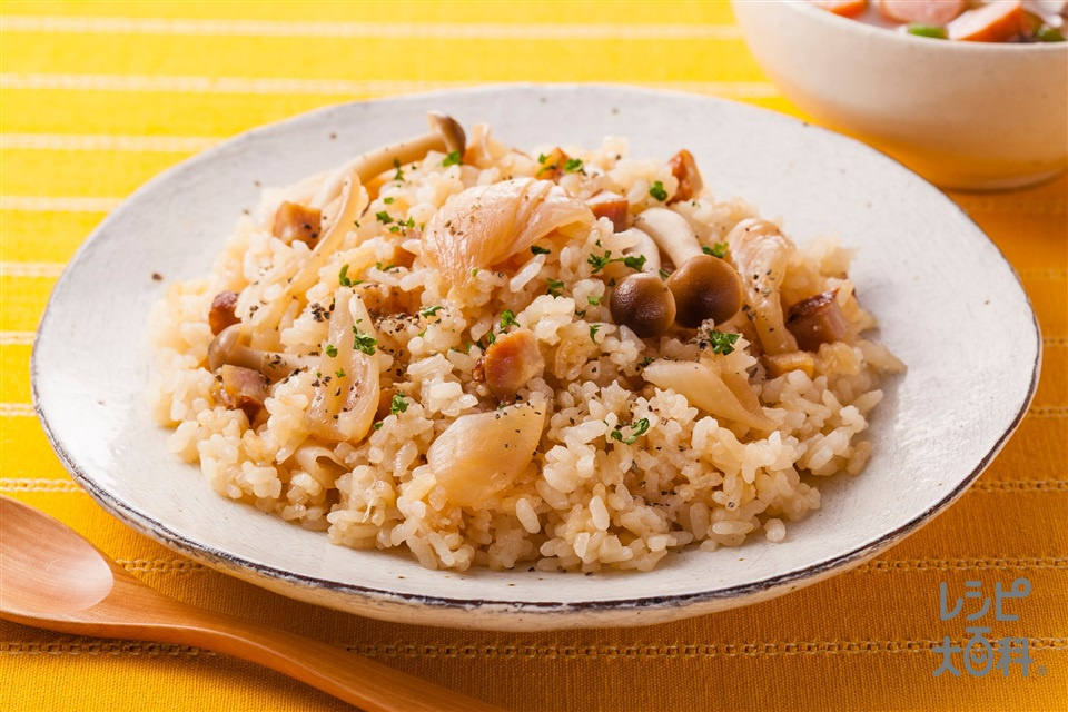 ごろっと新たまねぎのだし炊きライス(米+新玉ねぎを使ったレシピ)