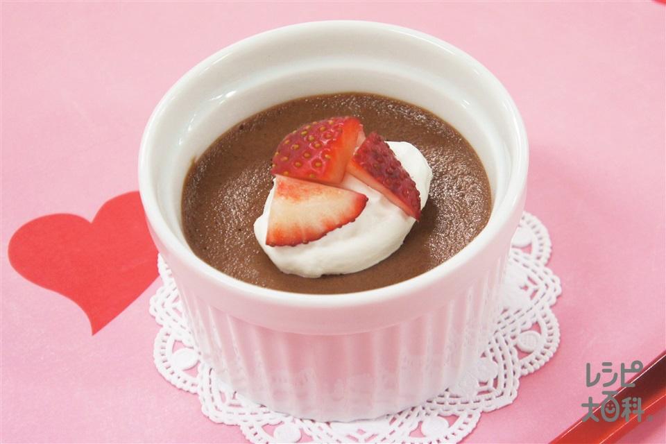 チョコレートムース(スイートチョコレート+A生クリームを使ったレシピ)