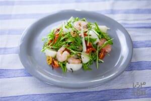 ぷりぷり海老とカブのゆず風味トスサラダ