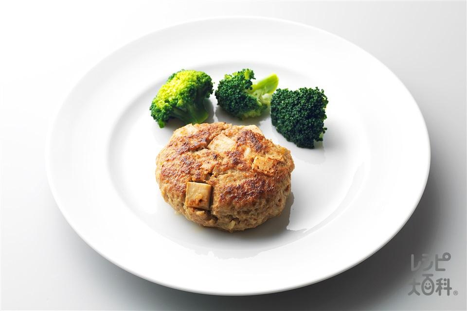 たけのこハンバーグ(合いびき肉+ゆでたけのこを使ったレシピ)