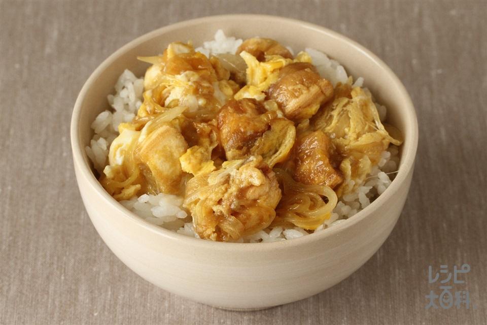 なんちゃって親子丼(溶き卵+ご飯を使ったレシピ)