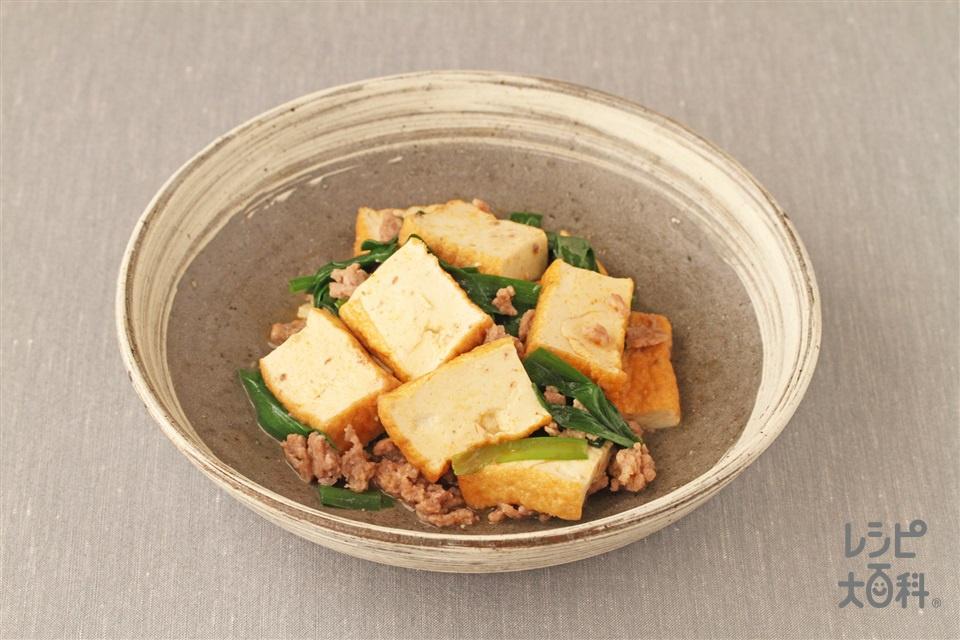 厚揚げのピリ辛煮(厚揚げ+豚ひき肉を使ったレシピ)