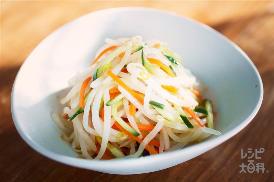 丸鶏ナムル(もやし+にんじんを使ったレシピ)