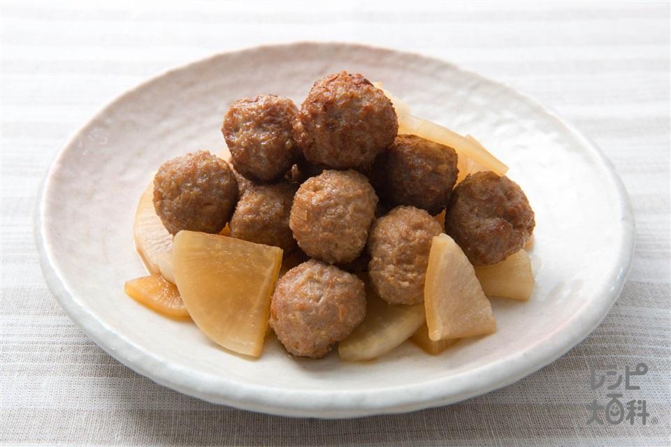 肉団子と大根の炒め煮(ジューシー肉団子+大根を使ったレシピ)