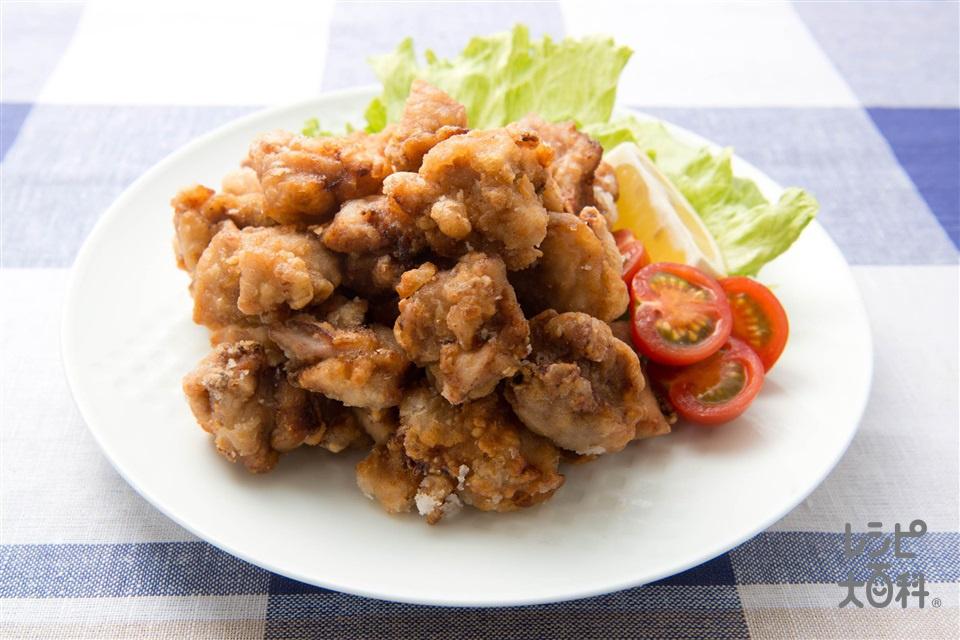竜田揚げ(鶏もも肉+レタスを使ったレシピ)