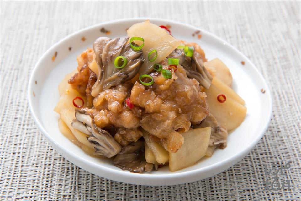 じゃがいもと竜田揚げの炒め煮(竜田揚げ+じゃがいもを使ったレシピ)