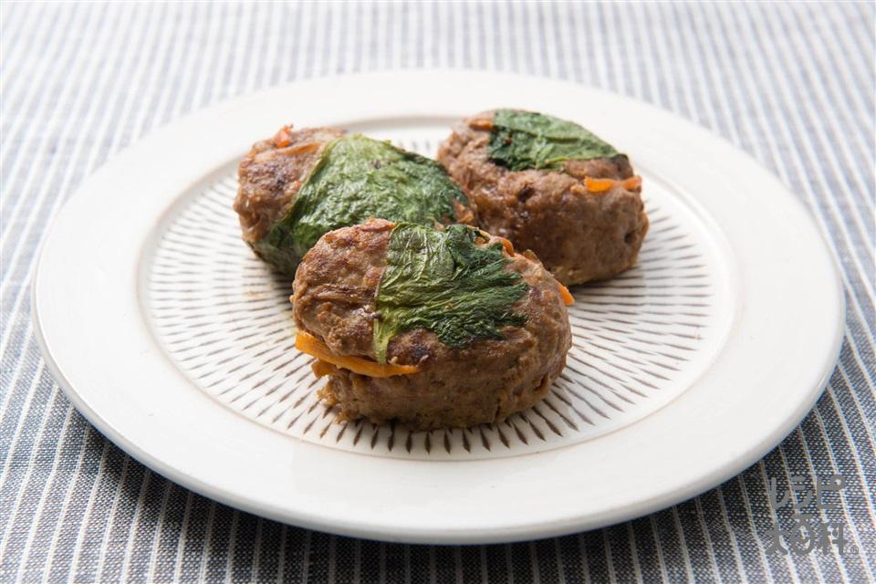きんぴらバーグ(合いびき肉+きんぴらごぼうを使ったレシピ)