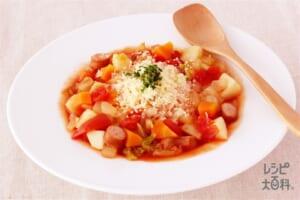 栄養満点リゾット(ご飯+カットトマト缶を使ったレシピ)