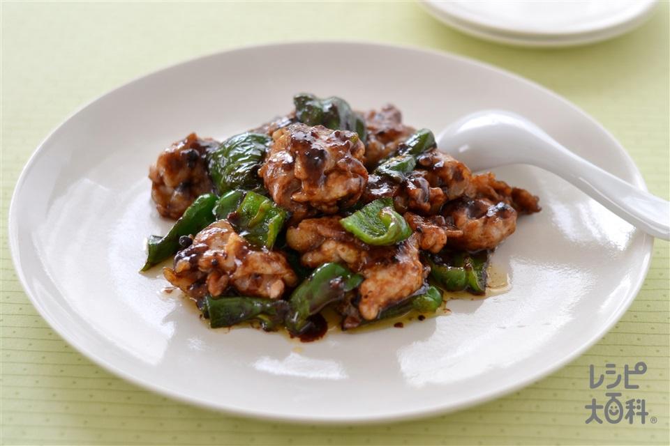 豚こまとピーマンの味噌炒め(豚こま切れ肉+片栗粉を使ったレシピ)
