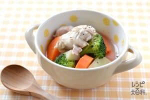 鶏肉の野菜たっぷりフライパンポトフ