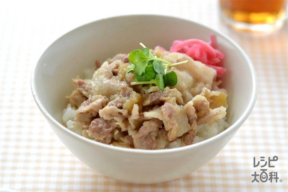 生姜焼き丼(豚こま切れ肉+ご飯を使ったレシピ)