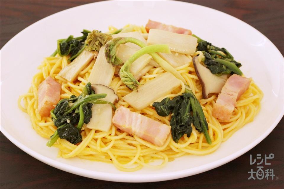 山うどのスパゲッティ(スパゲッティ+卵を使ったレシピ)