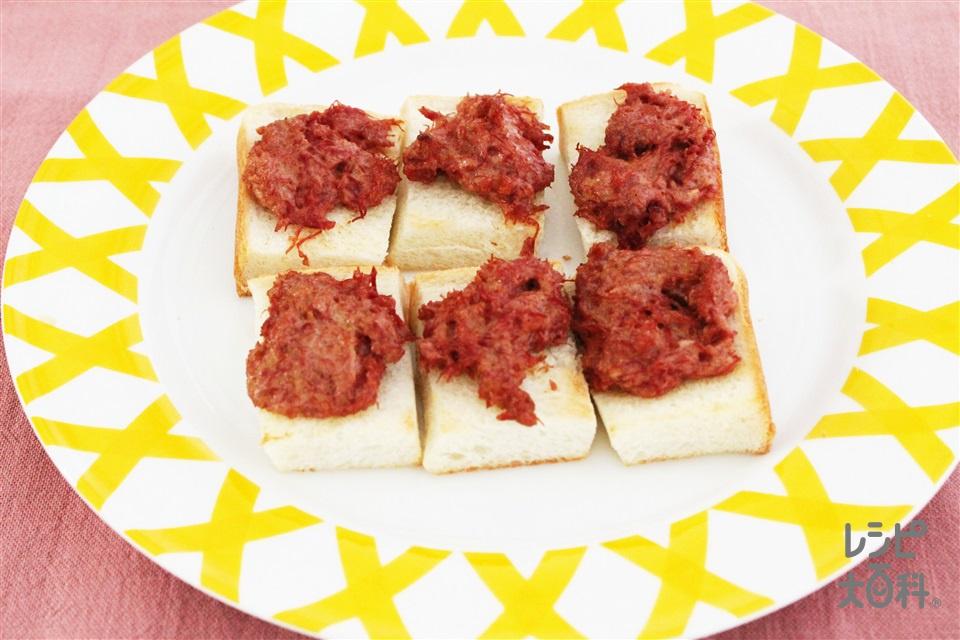 コンビーフトースト(食パン+コンビーフ缶を使ったレシピ)